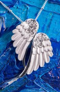 Bilde av Anheng - Angel wings, silver