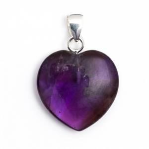 Bilde av Anheng Ametyst hjerte - Heart