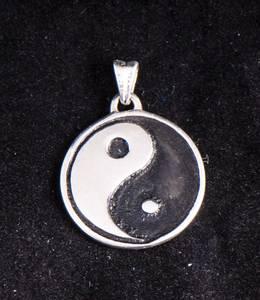 Bilde av Yin Yang tosidig anheng sølv