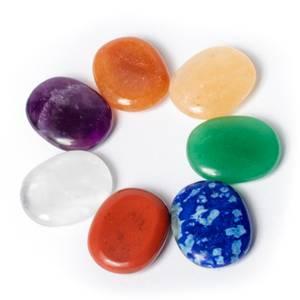 Bilde av 7 chakra mini worry stones -