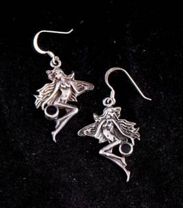 Bilde av Alv sølv-øredobber - Flying