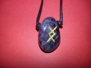 Bilde av Runesmykke Ametyst - Ing