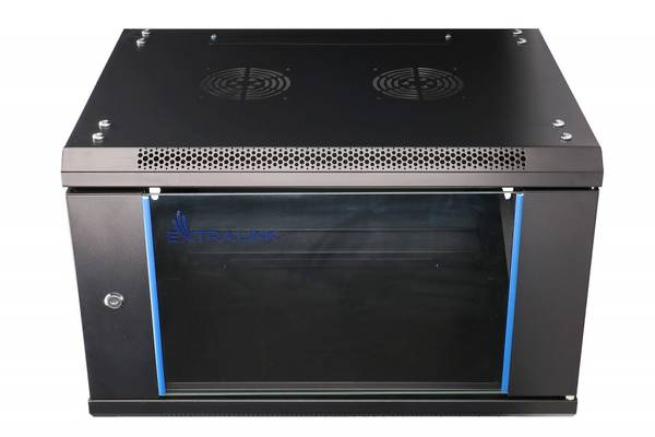6U 600X600 WALL-MOUNTED RACKMOUNT CABINET BLACK