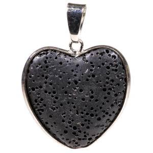 Bilde av Anheng/ Pendant lava stone heart