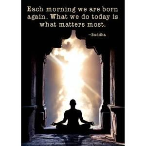 Bilde av  Postcards Each morning we are born again..