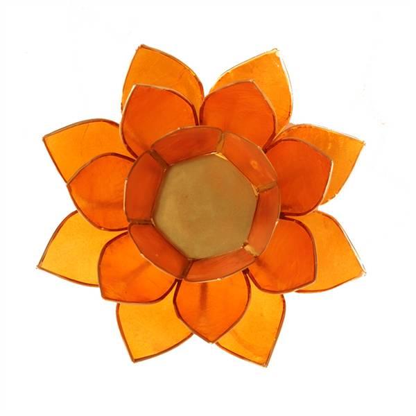 Lotus  Telysholder Oransje - Chakra 2