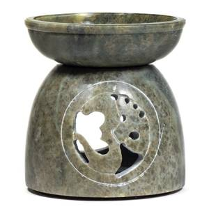 Bilde av  Aromalampe - Oil burner Ohm soapstone polished