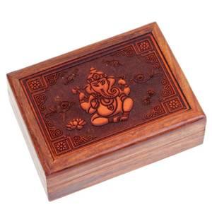 Bilde av Tarot box Ganesh engraved