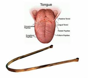 Bilde av Tongue Cleaner overlegen laget av kobber