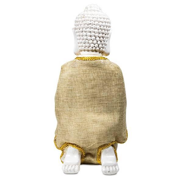 Peace Buddha with tea-light holder