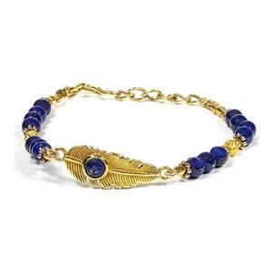 Bilde av Bracelet feather with lapis lazuli