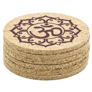 Bilde av Ohm Lotus coasters cork set of 6