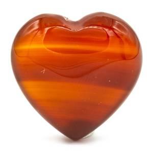 Bilde av Lommestein karneol hjerte /Heart-shaped worry
