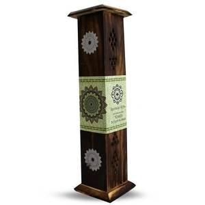 Bilde av Green Tree Tower Incense Burner with Mandala