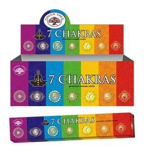 Bilde av Incense - Green Tree 7 Chakras - 15 gram