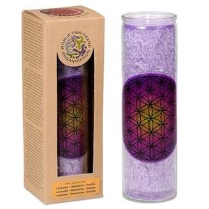 Bilde av Scented stearin candle Flower of Life purple
