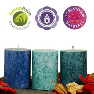 Bilde av Sustainable stearin candles 3 x OCEAN