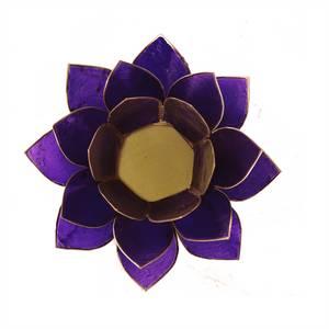 Bilde av Lotus atmospheric light chakra 7 violet gold trim