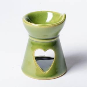 Bilde av Aromalampe - Aromaburner Ceramic Heart Green