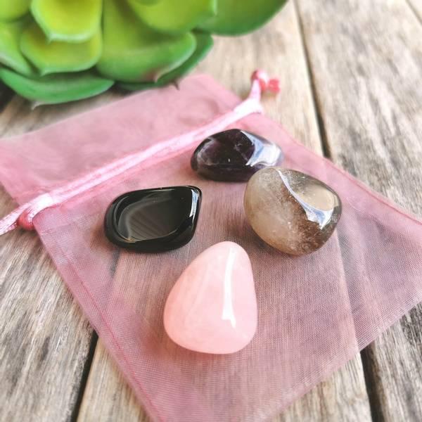 House Protection Gemstones Crystal Gift Set 4