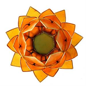 Bilde av Lotus telysholder / Atmospheric light orange gold