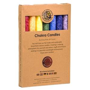 Bilde av Chakra Aroma Dinner Candles Set of 7 Assortment