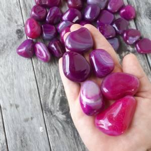 Bilde av Agat, rosa (F) Tromlet Medium AAA-kvalitet
