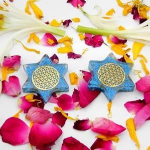Bilde av Turkis -Halo Turquoise Orgonite star Flower of