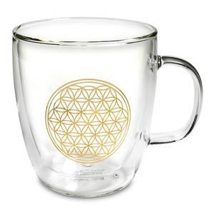 Bilde av Tea glass double wall Flower of life