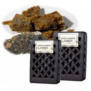Bilde av Incense resin Nag Champa/Amber in wooden box