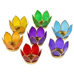 Bilde av Lotus Telysholder Chakra sett 7