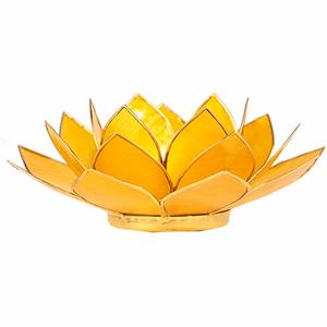 Bilde av Lotus telysholder /Lotus atmospheric light yellow