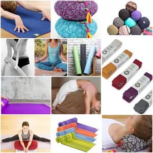 Bilde av Yogi & Yogini Naturals Yoga Bolster Rund Rainbow
