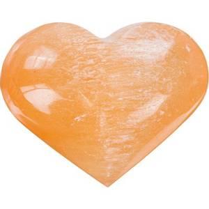 Bilde av Selenitt Oransje Hjerte Stor 60 - 80mm