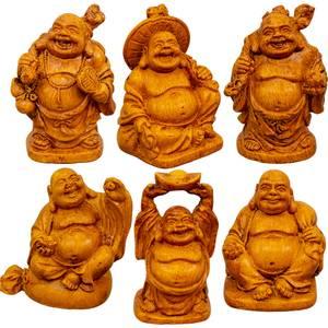 Bilde av Set of 6 Polyresin Feng Shuyi Figurines 5 cm -