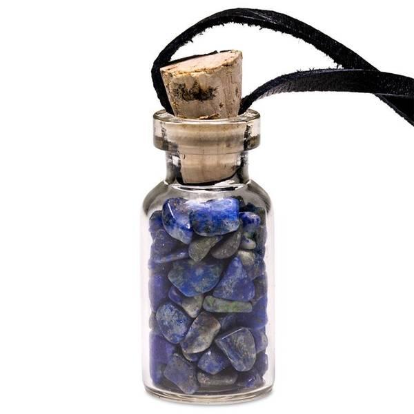 Lapis Lazuli tromlede steiner S - Glass gift bottle