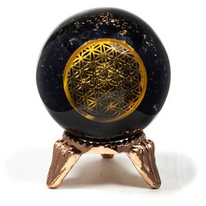 Bilde av Orgonitt Sphere Turmalin med Flower of life