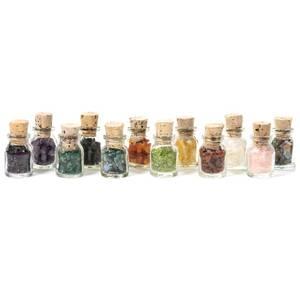 Bilde av 12 Krystall gave flasker sett  - gemstone gift