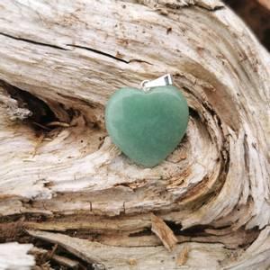 Bilde av Aventurin anheng hjerte /Pendant green aventurine