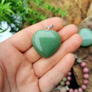 Bilde av Aventurin anheng hjerte stor /Pendant green