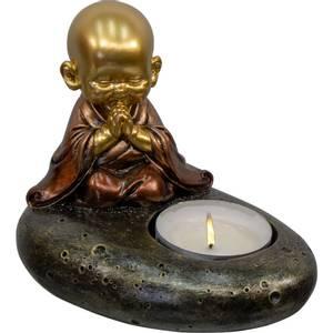 Bilde av Polyresin Tealight Holder - Praying Baby Monk