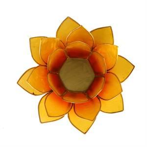 Bilde av Telysholder/Lotus atmospheric light orange-yellow