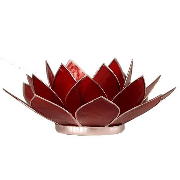 Telysholder/Lotus atmospheric light chakra 1 red silver trim