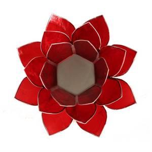 Bilde av Telysholder/Lotus atmospheric light chakra 1 red