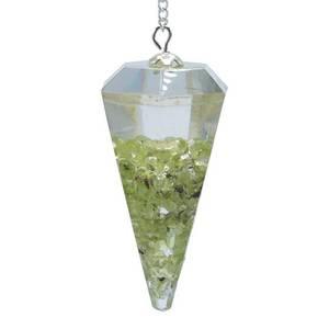 Bilde av Orgonite pendulum peridot facet cut