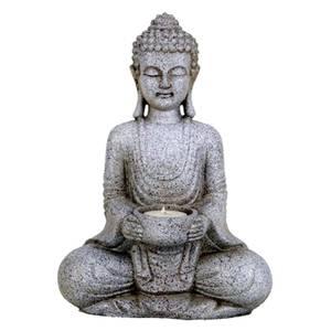 Bilde av Meditasjon Buddha figurer med lysestaker 27 cm