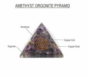 Bilde av Orgonitt Stor 70 mm, Ametyst og kobber