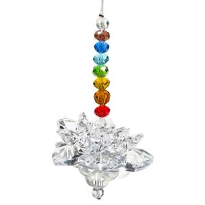 Bilde av Feng Shui crystal lotus with chakra chain -