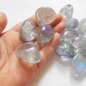 Bilde av Titanium Rainbow Aura Tromlet Medium AAA-kvalitet
