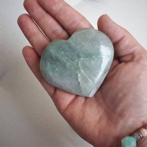 Bilde av Aventurin hjerte stor/ green aventurine heart 6,5